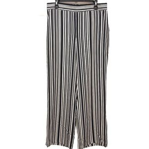 Peck & Peck Wide Leg Stripe Pants Size 12